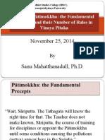 Lecture2 Bhikkhu Pātimokkha