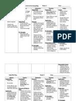 weekly planner- pbl