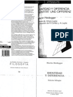 Heidegger IdentidadyDiferencia