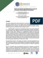 Comportamiento esfuerzo-deformación de suelos compactados de suelos parcialmente saturados