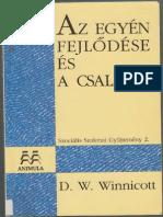 Winnicott D W Az Egyén Fejlődése És a Család