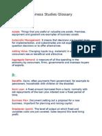 Business Studies Glossary