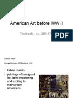 American Art Before WW II
