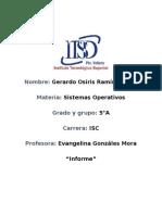 Informe - Sistemas Operativos - Los procesos