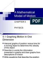 Mathematical Model of Motion Notes