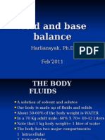 Fluid & Electrolyte Balance 2011