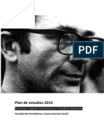 Plan de Estudios 2014 Periodismo Deportivo