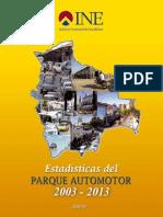 INE Parque Automotor 2003 2013