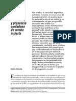 AUTORIDAD POLITICA DEBILITADA Y PRESENCIA CIUDADANA DE RUMBO INCIERTO I CHERESKY.pdf