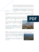 Principales Ciudades de Guatemala