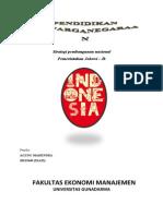 Strategi Pembangunan Nasional