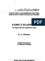 Family Planning by G A Parwez published by idara Tulu-e-islam
