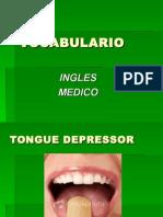 Vocabulario Inglés Medico