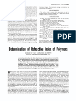 Determination of Refractive Index of Polymers