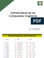 Nomenclatura de Los Compuestos Organicos I