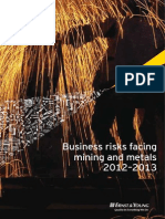 Business Risk Facing Mining and Metals 2012 2013