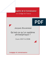 Bouveresse - Cours Systemes Philosophiques