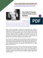 Amy Cuddy El Lenguaje Corporal Moldea