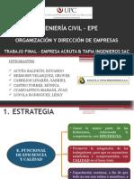 ORGANIZACION Y DIRECCIÓN DE EMPRESAS - ACRUTA Y TAPIA