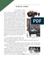 Historia Del Automovil y Del Carburador