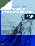 Roman Murawski, Thomas Bedürftig-Philosophie Der Mathematik-De Gruyter (2015)