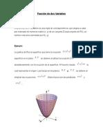 Definición de Una Función de 2 Variables