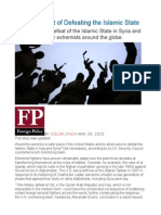 The High Cost of Defeating the Islamic State