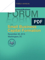 SEC Forum on Small Business Capital Formation