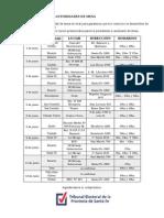Cronograma cursos autoridades de mesa elecciones 14 de junio - Santa Fe