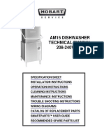 Dishwasher Hobart AM15 User Manual