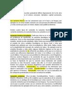 Variantes Lexicas y Sintacticas