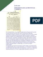 Acta de Independencia de Las Provincias Unidas Del Rio de La Plata