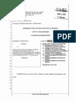 Cosentino Complaint vs Pechanga Gaming Commission