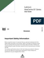 Lenovo Ideacentre B7 User Manual