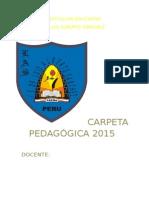 carpeta pedagogiica