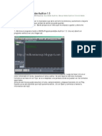 Manual Basico Del Adobe Audition 1.5