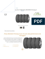 Kit Com 4 Pneus Aro 16 Michelin 205_55R16 Primacy 3 -Automotivo - Carros - Walmart