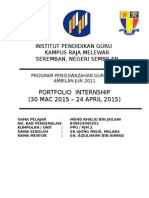 31032015 Muka Depan Portfolio Internship PPG