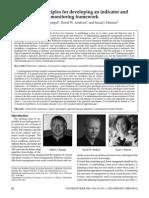 Principals for Developing Indicators