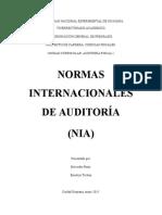 Resumen sobre Las Normas Internacionales de Auditoría