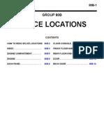 Splice locations Montero 3rd generation