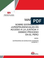 Manual Sobre Estandares Jurisprudenciales en Acceso a La Justicia y Debido Proceso en El Peru