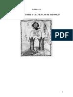Claves Mayores y Claviculas de Salomon