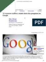 11 Recursos Ocultos e Muito Úteis Das Pesquisas No Google