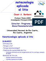 Nano Litio 2012 Cesar Barbero