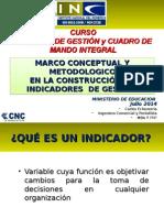 Clase 4 Modelo Metodologico Crear Indicadores Curso Control Gestion y CMI MINEDUC