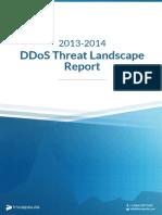 2013-14 Ddos Threat Landscape