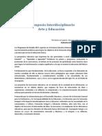 Convocatoria III Simposio Interdisciplinario Arte y Educación