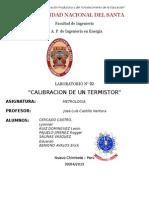 Laboratoria Calibracion de Un Termistor