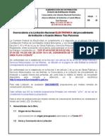 2.- CONVOCATORIA ELECTRÓNICA-CFE-DDO-OP-004-14
